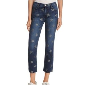 Current Elliott Slim Cropped Straight Star Jeans